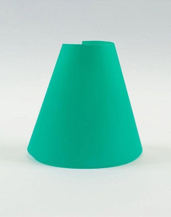 Cúpula de abajur em papel - Paper Lamp cor Turquesa