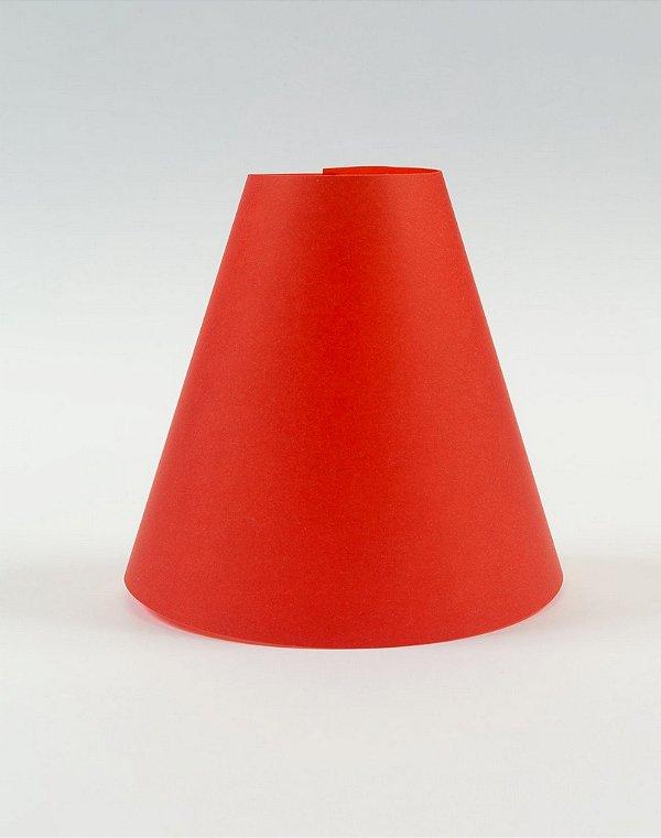Cúpula de abajur em papel - Paper Lamp cor Vermelho