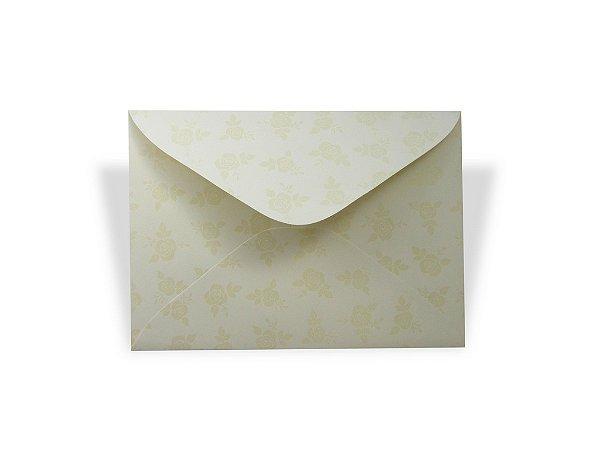 Envelopes carta Creme Decor Rosas Incolor - Lado Externo 10 unidades