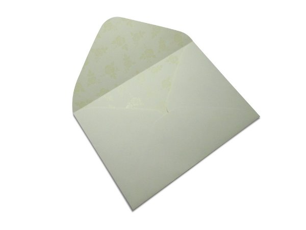 Envelopes carta Creme Decor Rosas Incolor - Lado Interno 10 unidades