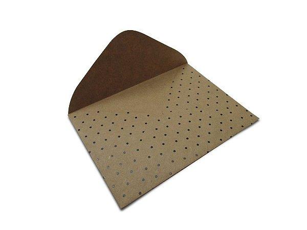 Envelopes carta Kraft Decor Bolinhas Preto - Lado Externo 10 unidades