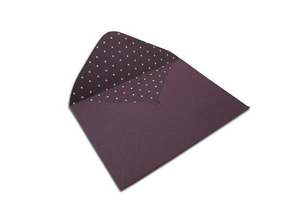 Envelopes carta Mendoza Decor Bolinhas Branco - Lado Interno 10 unidades