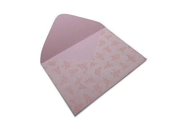 Envelopes carta Rosa Verona Decor Rosas Incolor - Lado Externo 10 unidades