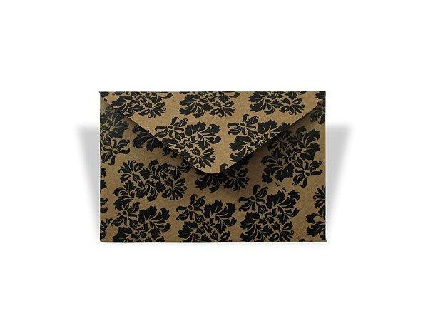 Envelopes visita Kraft Decor Arabesco Preto - Lado Externo com 10 unidades