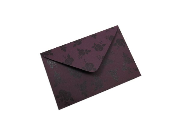Envelopes visita Mendoza Decor Rosas Pretas - Lado Externo com 10 unidades