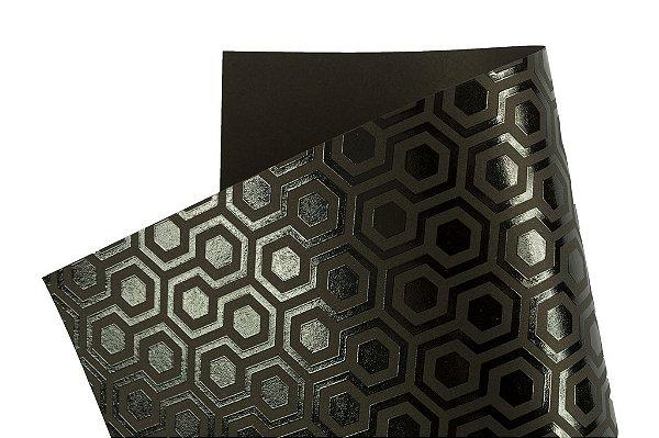 Papel SuperInk Dark Hexágono 30,5x30,5cm com 2 unidades