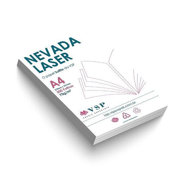 Papel Sulfite Nevada Laser 75g/m² - A4 com 500 folhas