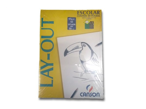 Papel Lay-Out Canson A3 com 50 unidades