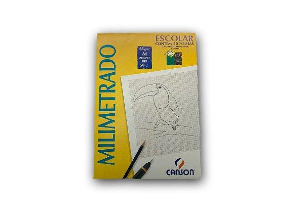 Bloco para desenho Canson Milimetrado A4 com 50 folhas