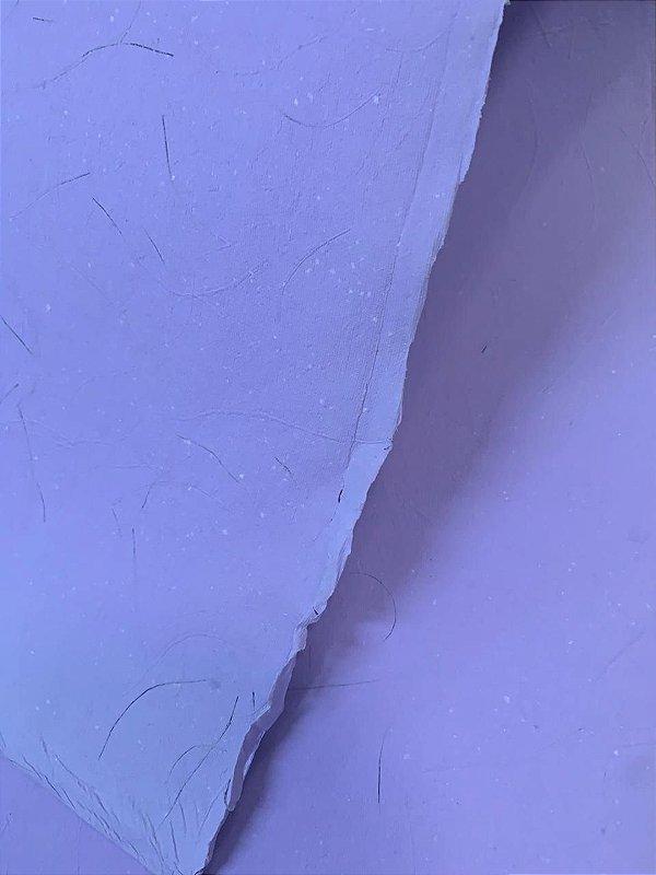 Papel Artesanal Preserve Flora Lilás - Formato 50x70cm
