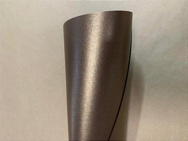 Papel Sirio Pearl Fusion Bronze 125g/m² - Formato A4 com 50 folhas
