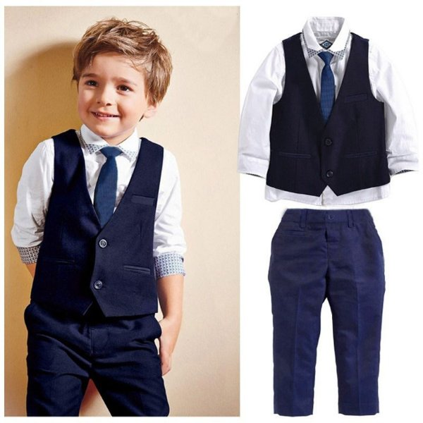 6e49680b62 Conjunto 4 peças Infantil Calça camisa colete gravata - Ranna Bebê