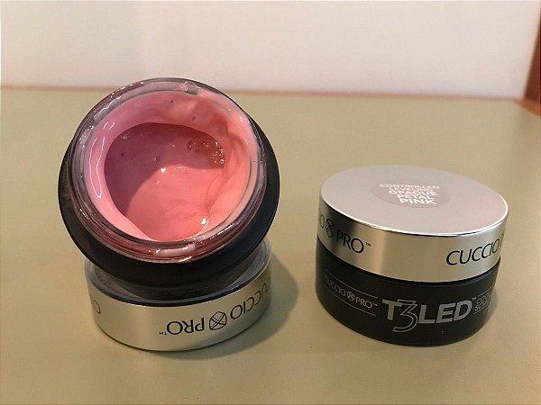 Gel T3 LED/UV Cuccio Pro - Controle Total - Opaque Petal Pink - 28g - 6949 -