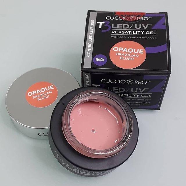 Gel T3 LED/UV Cuccio Pro - Controle Total - Opaque Brazilian Blush - 28g