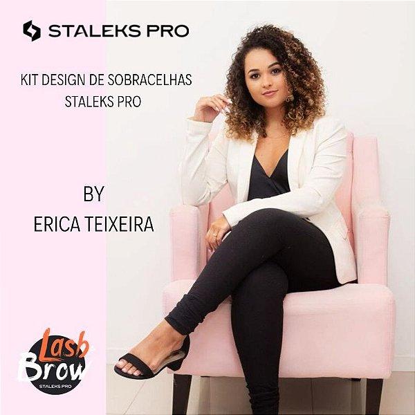 Kit Design de Sobrancelhas Staleks Pro By Erica Teixeira (1 Pinça TE-10/5 + 1 Pinça TE-20/4 + 1 Tesoura SE-90/2)