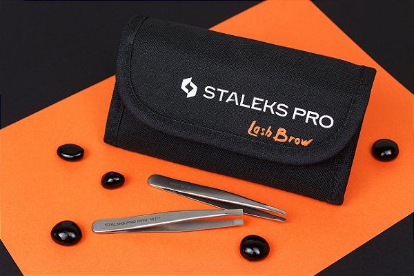 Kit Designer de Sobrancelhas Staleks Pro (1 Estojo para Pinças CS-20 + 1 Pinça TE-10/1 + 1 Pinça TE-10/4)
