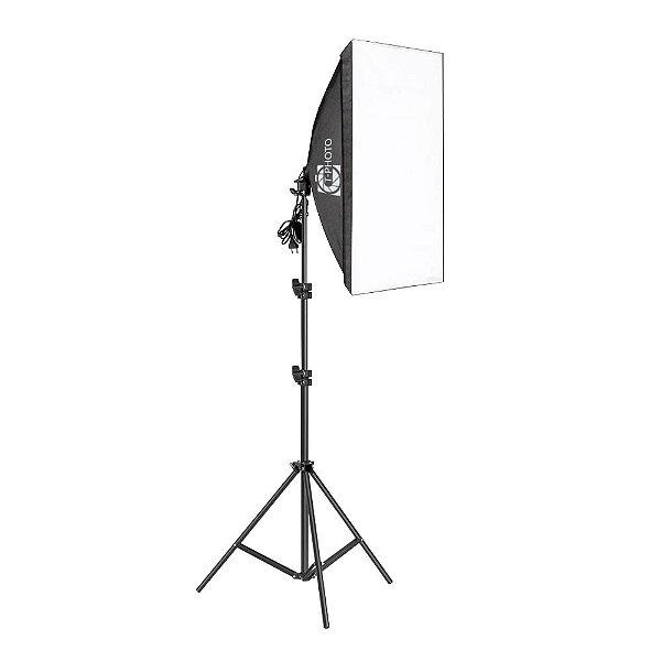 Equipamento T-Photo Kit Softbox 50X70 + Tripé 2M + Lâmpada