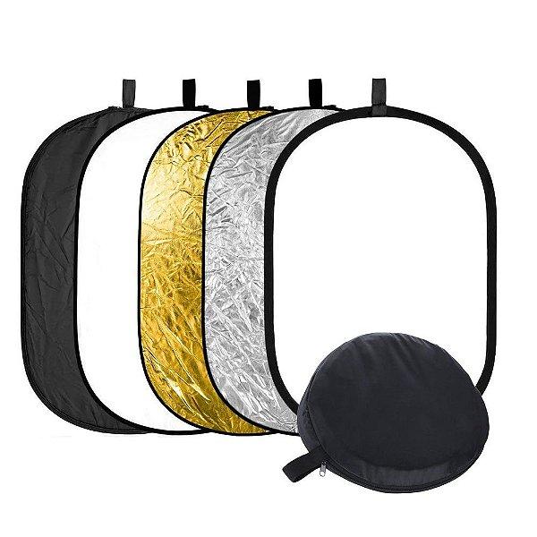 Equipamento T-Photo Rebatedor e Difusor Oval  90x120cm