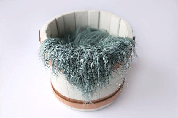 Faux Flokati - Azul Acinzentado