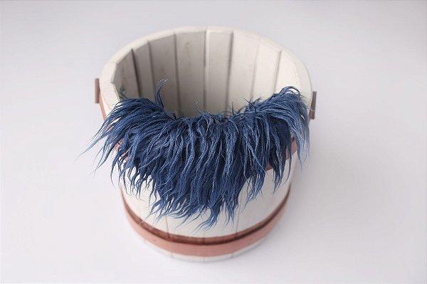 Faux Flokati - Azul Marinho