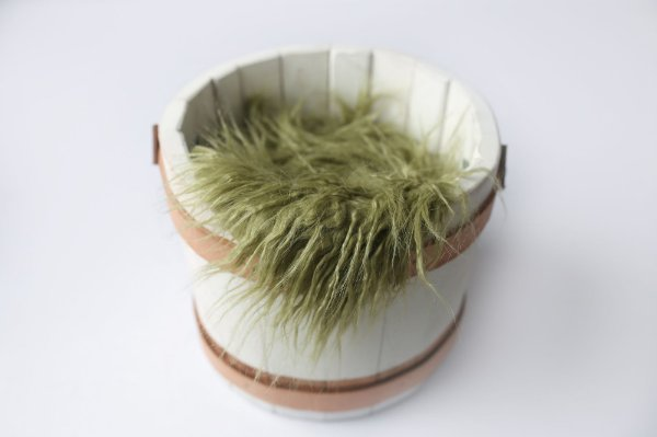 Faux Flokati - Verde Oliva