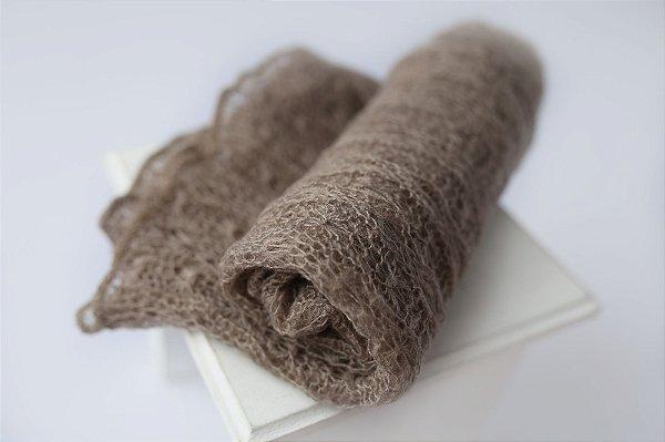 Wrap Mohair - Cinza Natural