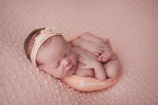 Manta Pipoca - Rosa Bebê