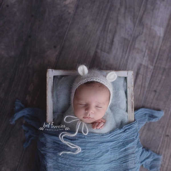 Fluff Rústico - Azul Bebe
