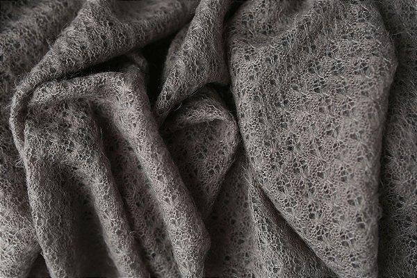 Manta Texturizada - Cinza Escuro