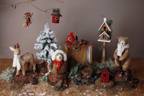 Cenário de Natal - Floresta Rústica