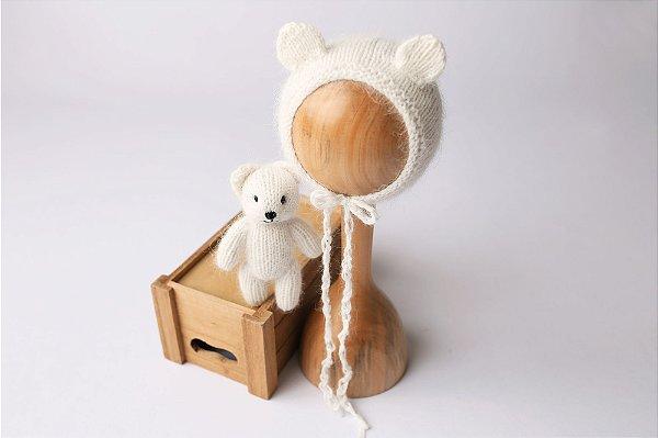 Conjunto Urso + Touquinha - Off White