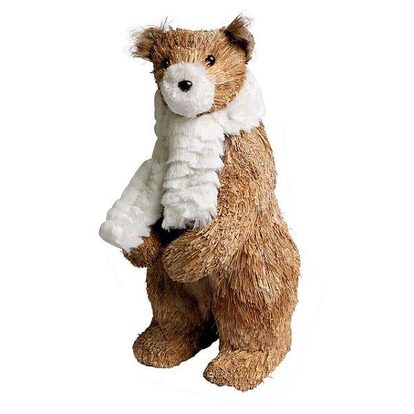 Urso Cachecol Rústico 35cm