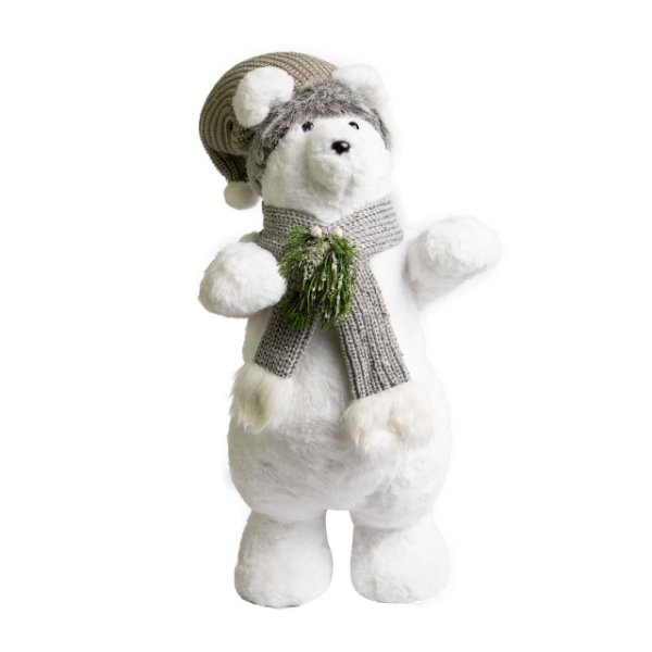 Urso em Pé Nevado 44cm