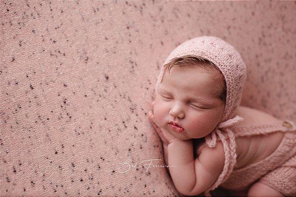 Manta Flocada - Rosa Bebê