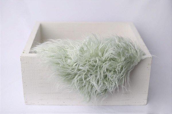 Faux Flokati - Verde Pastel