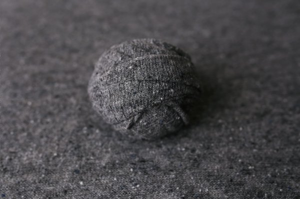 Kit Manta + Wrap Flocado - Cinza Escuro