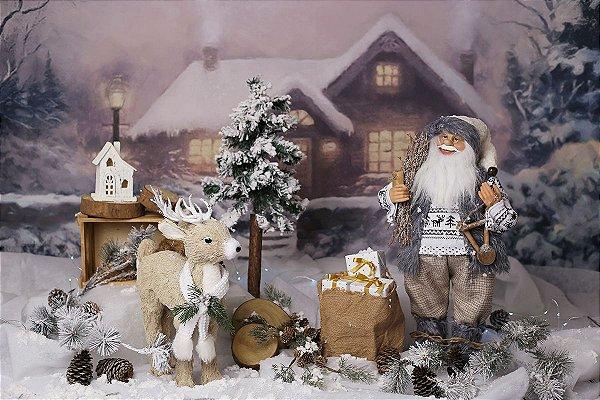 Cenário de Natal - Let it Snow
