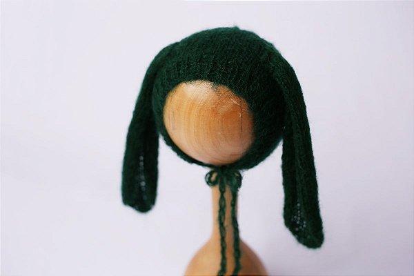 Touquinha de Mohair Bunny - Verde Escuro