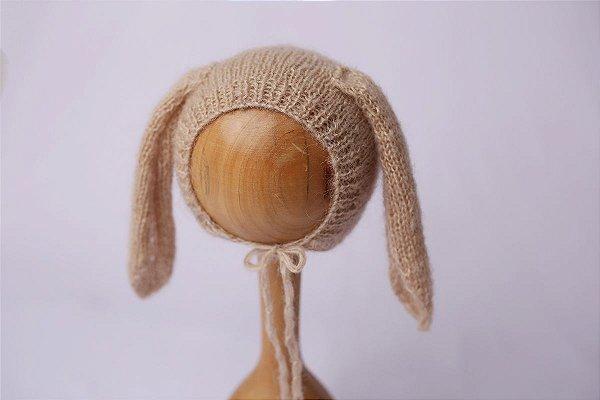 Touquinha de Mohair Bunny - Bege