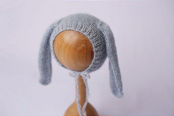 Touquinha de Mohair Bunny - Azul Bebê