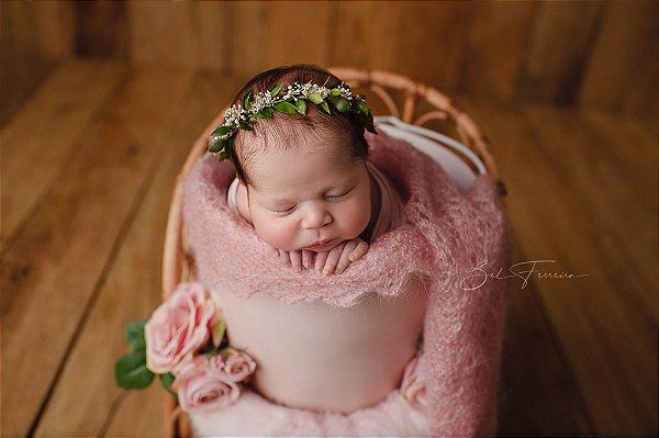 Baldinho de Metal Rústico - Rosa Bebê