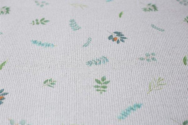 Manta Felpuda Estampada + Wrap - Botanique Blue