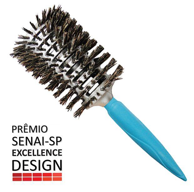Escova Profissional Térmica Vazada Mista Grande - Prêmio Senai-SP Excellence Design
