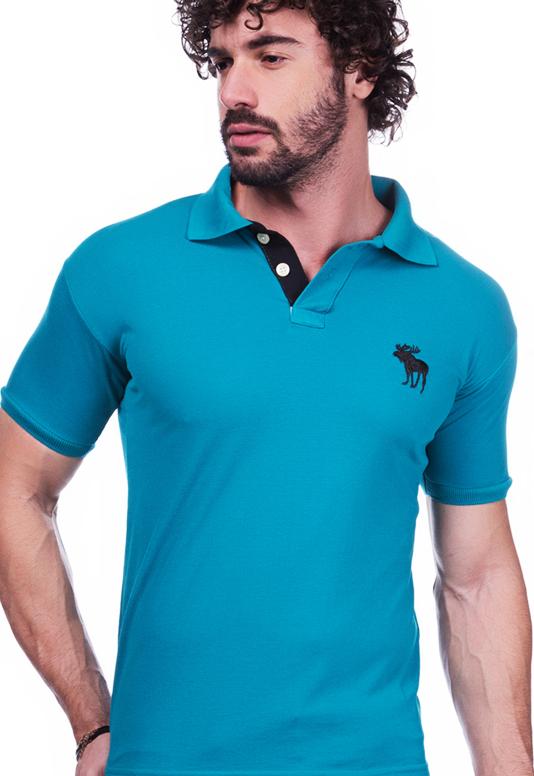 Camisa Gola Polo Abercrombie Verde