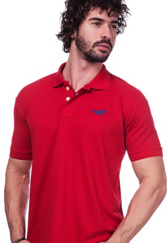 Camisa Polo Hollister Vermelha | Oferta