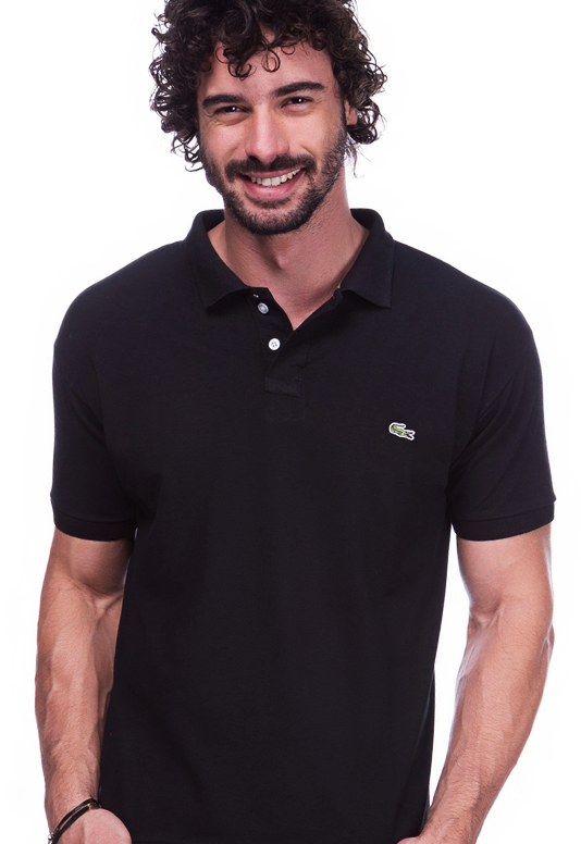 Camisa Polo Lacoste Preta | Oferta