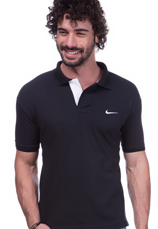 Camisa Polo Nike preta | Oferta