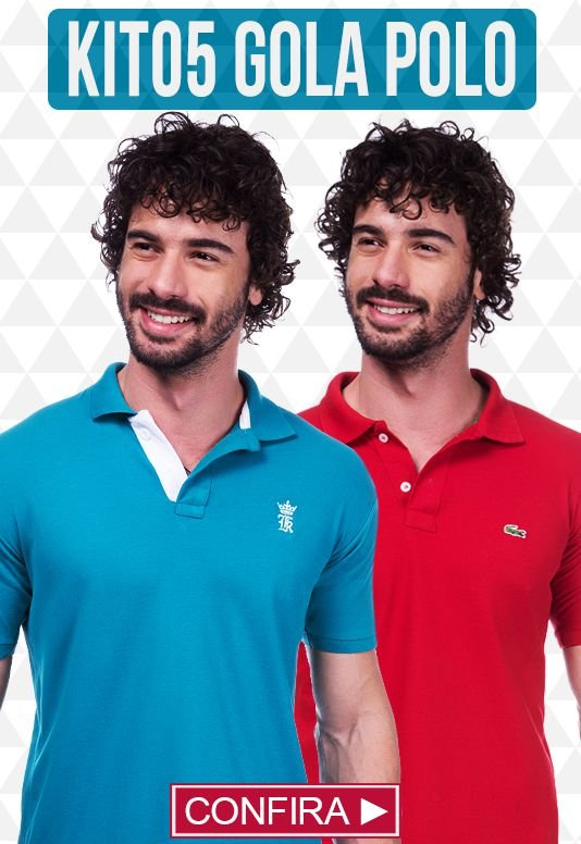 Kit com 05 Camisas Polo Masculinas no Atacado