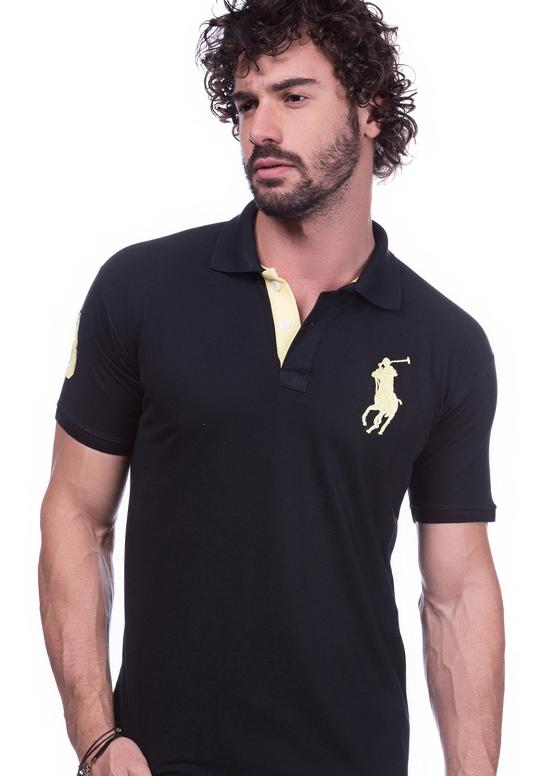 Camisa Polo Ralph Lauren Preta | Oferta