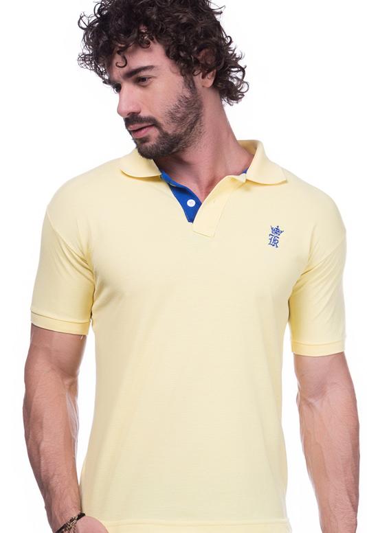 Camisa Polo Sergio K Amarela | Oferta